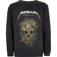 Sweat noir du groupe Metallica pour garçon