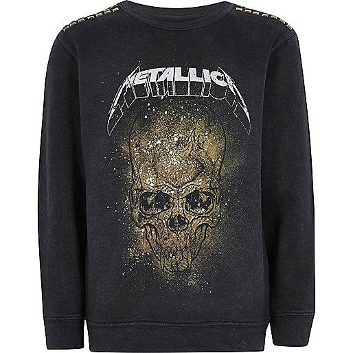 Boys black Metallica band sweatshirt