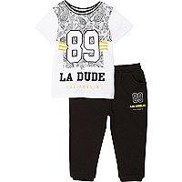 Mini boys 89 shirt and jogger set