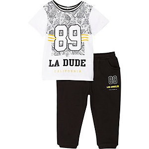 Mini boys 89 shirt and jogger set