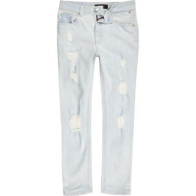 Sid Lichtblauwe gebleekte skinny jeans voor jongens