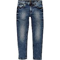 Dylan – Blaue Slim Fit Jeans mit Aufnäher
