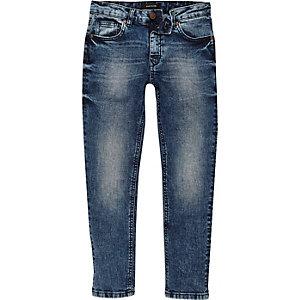 Boys blue eagle patch Dylan slim fit jeans