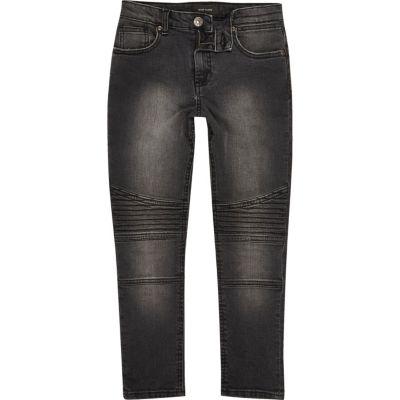 Sid Zwarte biker skinny jeans voor jongens