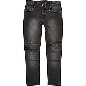 Boys black Sid biker skinny jeans