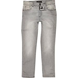 Boys light grey Dylan faded slim fit jeans