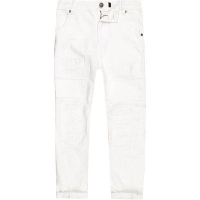 Tony Witte ripped ruimvallende jeans voor jongens