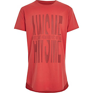 """Rotes T-Shirt """"Awesome""""-Print für Jungen"""