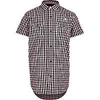 Schwarzes Hemd mit pinkem Muster