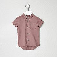 Mini boys pink Oxford shirt