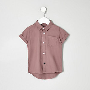Mini boys pink Oxford shirt