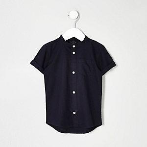 Mini boys navy grandad Oxford shirt
