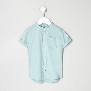 Mini boys turquoise grandad Oxford shirt