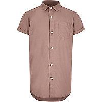 Boys pink short sleeve Oxford shirt