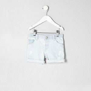 Short en jean bleu clair pour mini garçon