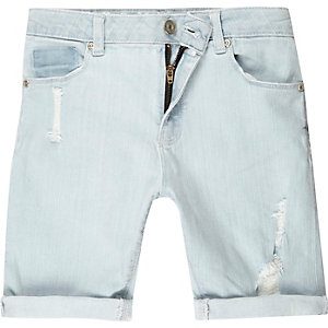 Boys light blue distressed dylan jeans