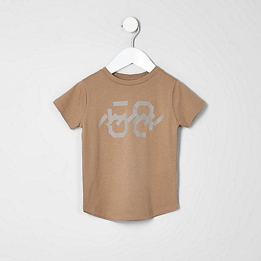 Mini boys stone print T-shirt