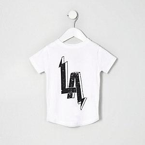 T-shirt à imprimé LA blanc mini garçon