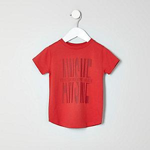 T-shirt imprimé Awesome rouge mini garçon