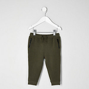 Mini boys khaki joggers