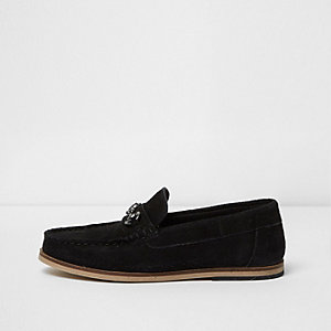 Boys black snaffle loafers