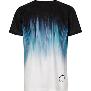 Boys blue faded print T-shirt