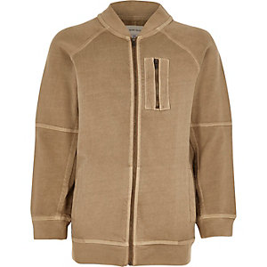 Boys stone soft bomber jacket