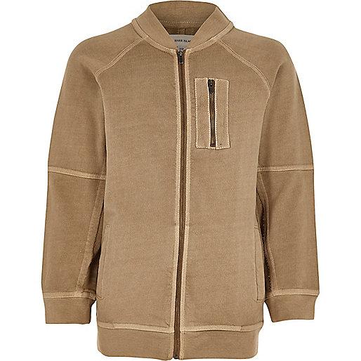 Boys stone soft bomber jacket