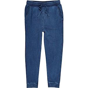 Pantalon de jogging bleu marine délavé pour garçon