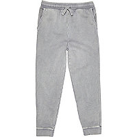 Boys grey washed joggers