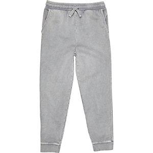 Pantalon de jogging gris délavé pour garçon