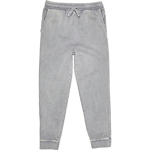 Boys grey washed joggers