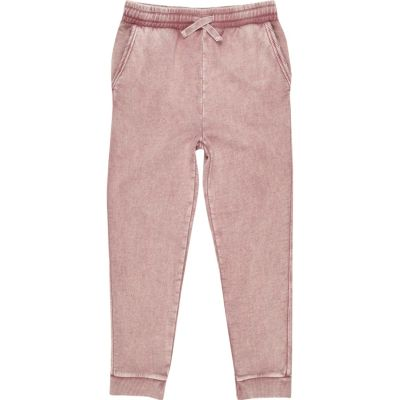 Roze washed joggingbroek voor jongens