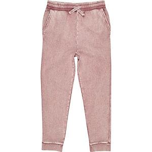 Pantalon de jogging rose délavé pour garçon