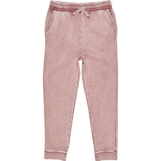 Boys pink washed joggers