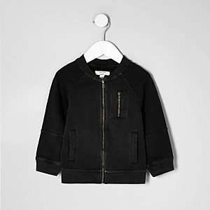 Mini boys black bomber jacket