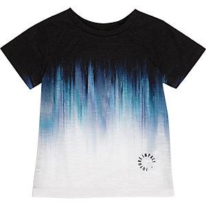 T-shirt imprimé délavé bleu mini garçon