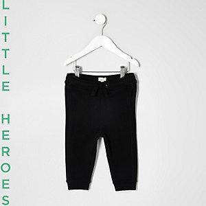 Mini - zwarte jersey joggingbroek voor jongens