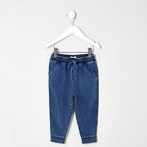 Pantalon de jogging bleu marine délavé mini garçon