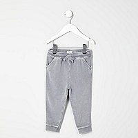 Mini boys grey washed joggers