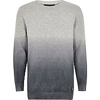 Boys grey faded jumper