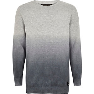 Boys grey faded sweater