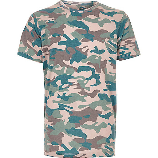 Boys khaki green camo T-shirt