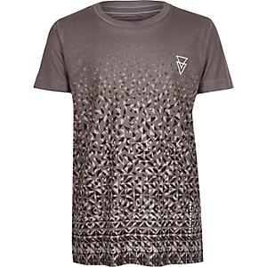T-shirt gris imprimé délavé pour garçon