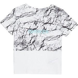T-shirt colour block blanc mini garçon