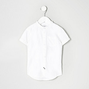 Mini boys white grandad Oxford shirt