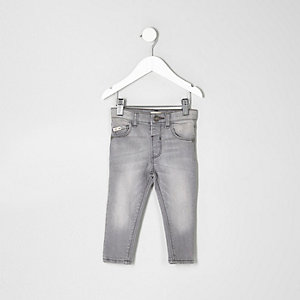 Mini boys grey Sid skinny jeans