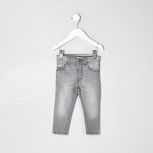 Sid – Jean skinny gris pour mini garçon