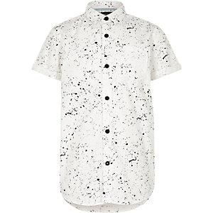 Kurzärmliges Hemd mit Fleckenmuster