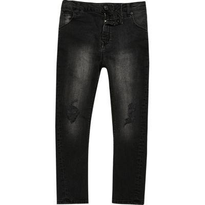 Tony Zwarte wash nonchalante jeans voor jongens